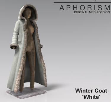 APHORISM! Winter Coat - White