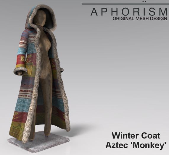 !APHORISM! Winter Coat - Aztec 'Monkey'