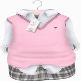{LPP} *Preppy Doll* ToddleeDoo Mesh Uniform | Pink