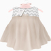 {LPP} ToddleeDoo Mesh Chevron Dress | Taupe