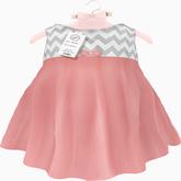 {LPP} ToddleeDoo Mesh Chevron Dress | Blush