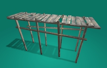 """1 prim full perm """"Old Wooden Pier"""" sculpt map, any texture"""
