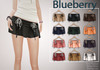 Blueberry lorie folded skirts