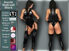 [TKS] BASIC -  Dazzle Bodysuit Black