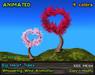 Valentine Big Heart Tree - Heart Shaped Mesh Trees, 4 colors, Wind Effect