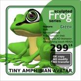 Sculpted frog Green AV