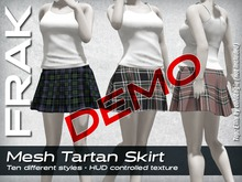 FRAK - Mesh Tartan Skirt - DEMO