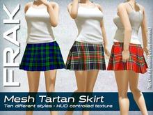 FRAK - Mesh Tartan Skirt
