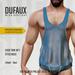 DUFAUX - TMP loose tank - fitted mesh - sheer - blue