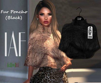 IAF Fur Poncho (Black)
