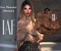 IAF Fur Poncho (Brown)