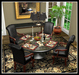 Dinner Party Dining Set for 4: Black Marble and Louis XV mesh 29 Prims!