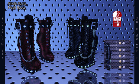 Suicide Gurls - Gulah Boots - Leopard
