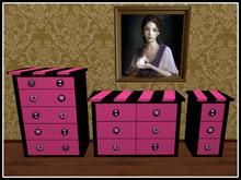 RE Black & Pink Dresser Nightstand Set  - Fun Bedroom Decor