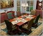 Dinner Party Dining Set for 6: Jacobean Trestle Table MESH