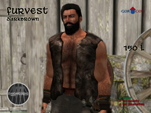 GORCON Male Fur Vest Darkbrown