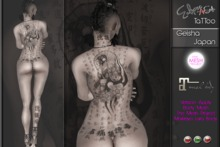 TaTToo Geisha Japan Apply The Mesh Project - Maitreya Lara Body