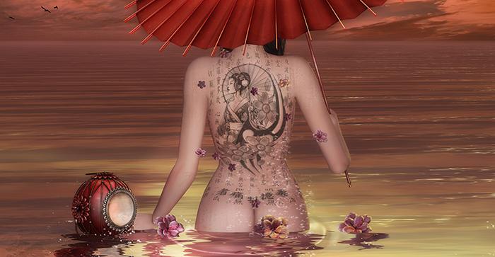 Abi's poses - Kneeling set - Geisha