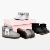 {LPP} Boho Fringe Boots | Grayscale