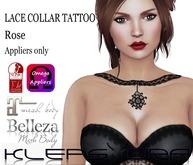 Klepsydra - Lace Collar Tattoo - Rose-Appliers