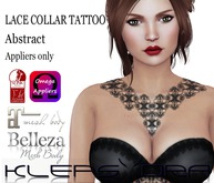 Klepsydra - Lace Collar Tattoo - Abstract-Appliers