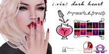 (.vix) Dark Heart ~ Slink, Maitreya & Omega Nails