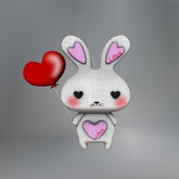 Valentine Balloon Love Bunny Mesh Tip Jar box