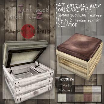 HD Junk wood stool TypeZ(trans)/original 47 anims