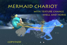 Wearable Mermaid Chariot - Full Sized and Petite- BOXED