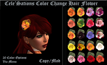 Cele'Sations Color Change Hair Flower