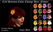 Cele'Sations Color Change Hair Flower Pk