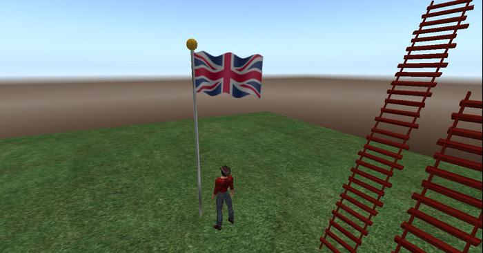 United Kingdom Flag animated blowing in the wind