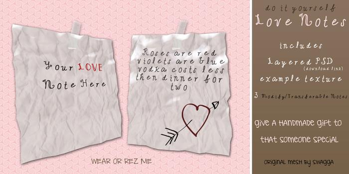 [SWaGGa] Mesh Love Note Kit