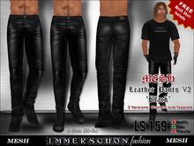 Immerschoen Man - Mesh Leather Pants 'Black' V2