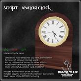 [Black Tulip] Script - Analog Clock - Basic Edition