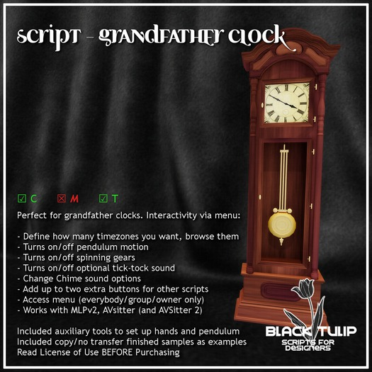[Black Tulip] Script - Analog Clock - Grandfather Clock Edition