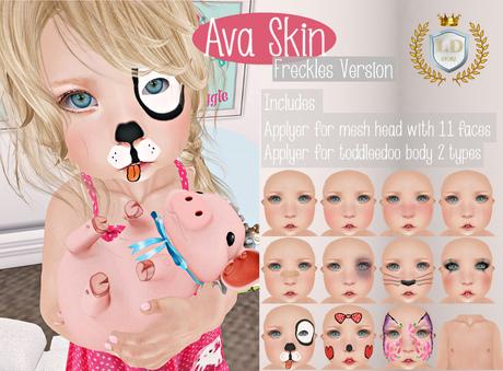 {LD} - Ava Skin Freckles Mesh Head