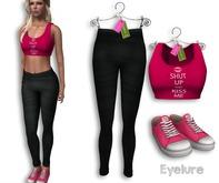 Eyelure Outfit - HotPink/Black Leggings-Tank-Shoes