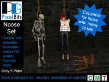 Noose set - 1 skeleton, 1 animated, 1 chair