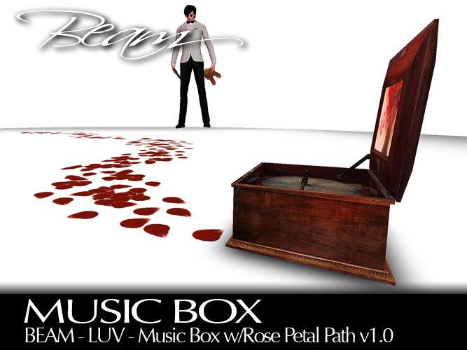 "BEAM - LUV - Music Box (""Moonbeam Sonata"") w/Rose Petal Path v1"