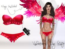 BLOKC Valentine's Day Gift <3 -  (lingerie, bra, bralette, set, underwear, panties, bras, pink, red, satin, mesh)