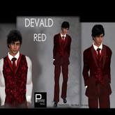 Pierre Styles Tuxedo DEVALD in RED