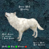 Snow Wolf Howling