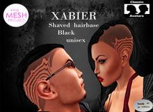 ::Kandy Tattoos::XABIER Shaved  hairbase::Black (unisex)TMP