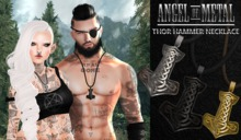.:Angel of Metal:. Thor Hammer Necklace