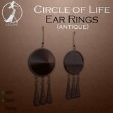 -=UZURI=- Circle of Life (antique) Ear Rings