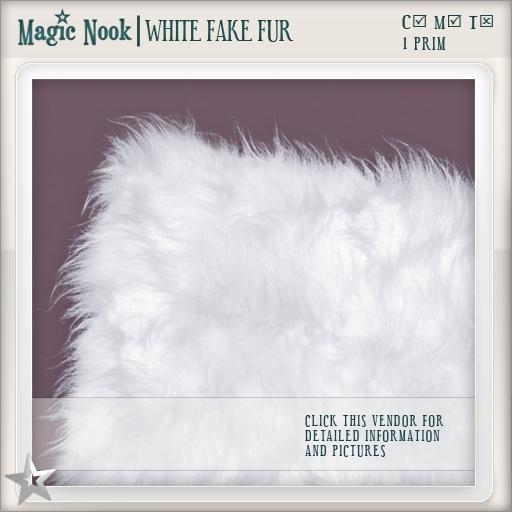 [MAGIC NOOK] White Fake Fur
