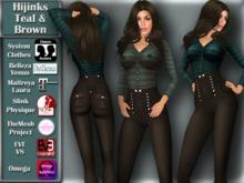 [TKS] BASIC -  Hijinks teal & brown