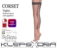 Klepsydra - Corset Tights Nude-Appliers