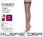 Klepsydra - Corset Tights Black-Appliers